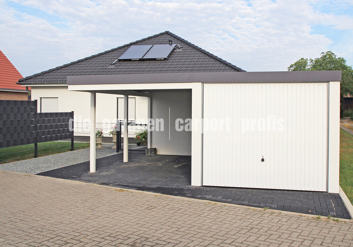 fertiggarage mit carport doppelgarage holzgarage mit. Black Bedroom Furniture Sets. Home Design Ideas