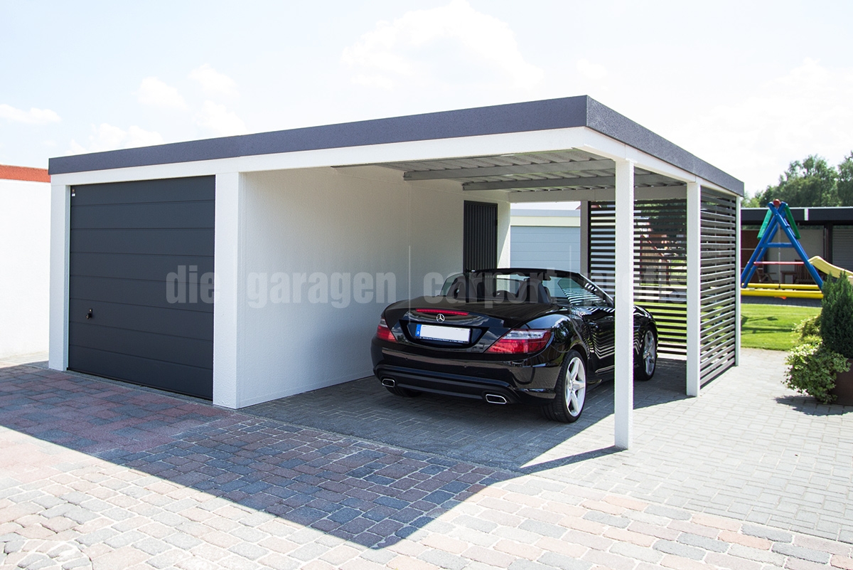 Die garagen carport profis kombinationen garage carport for Garage and carport