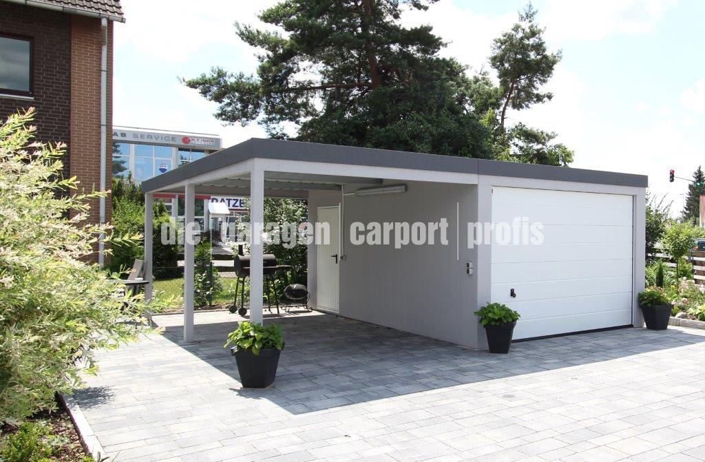 fertiggarage mit carport. Black Bedroom Furniture Sets. Home Design Ideas