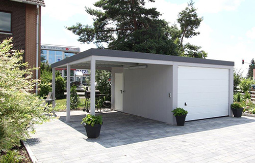 Garagen-Carport-Kombination